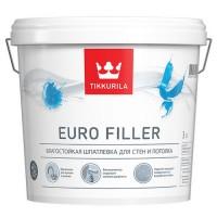 Акриловая влагостойкая шпатлевка Euro Filler